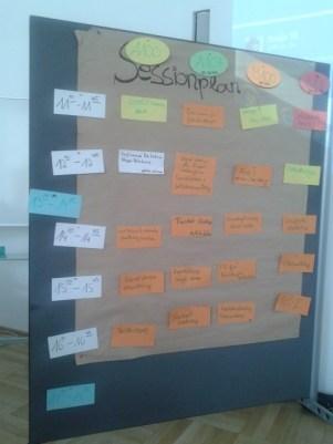 Sessionplan beim #embc14 - mit Moderationskarten