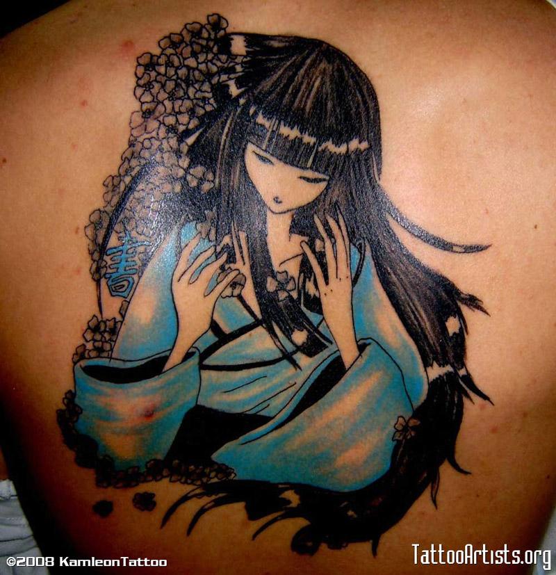 Tatuagens Nas Costas Femininas Grandes Gueixa