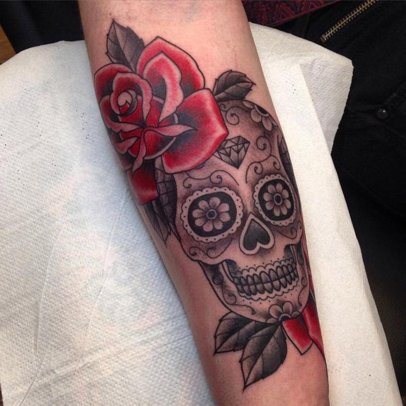 Tattoo Caveira Mexicana Feminina