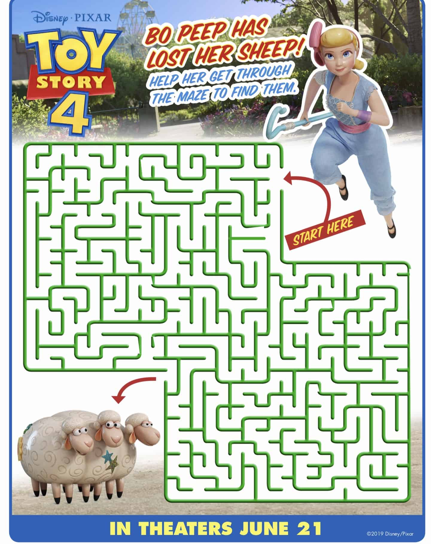 Toy Story 4 Movie Activity Sheets And Coloring Pages