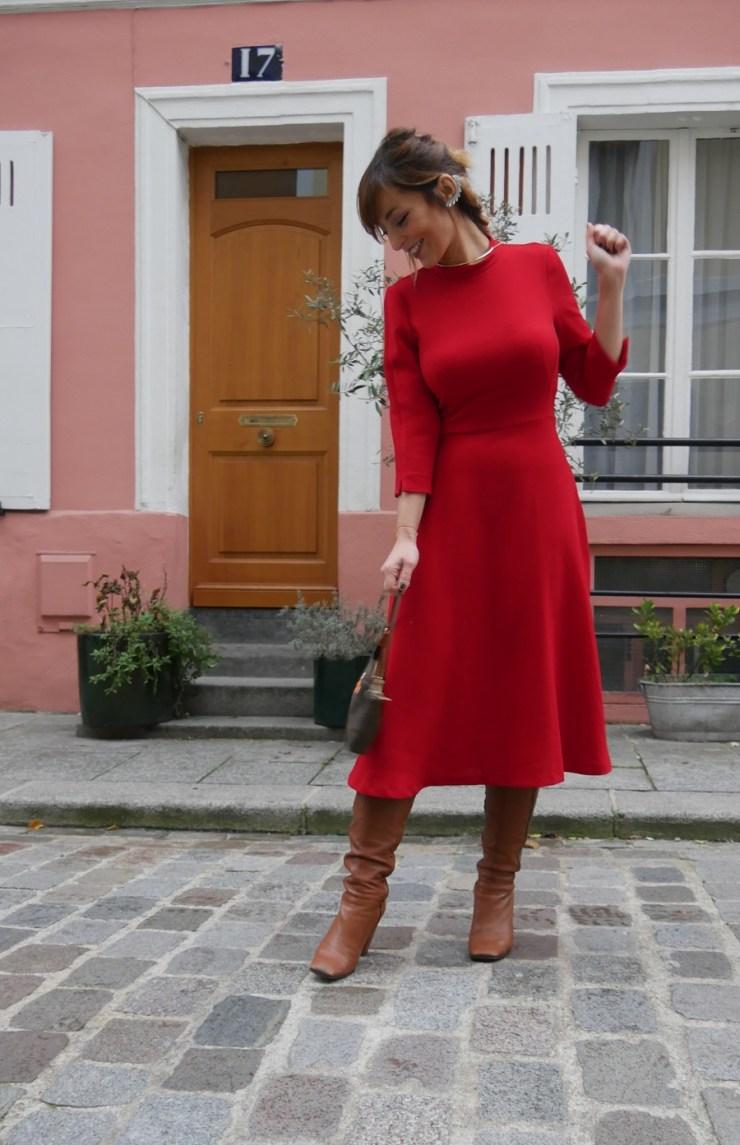 amourblogetbeaute Aurora robe Zara rouge sourire