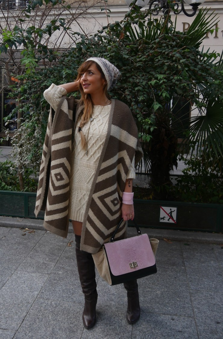 amourblogetbeaute envie de cocooning robe pull cape