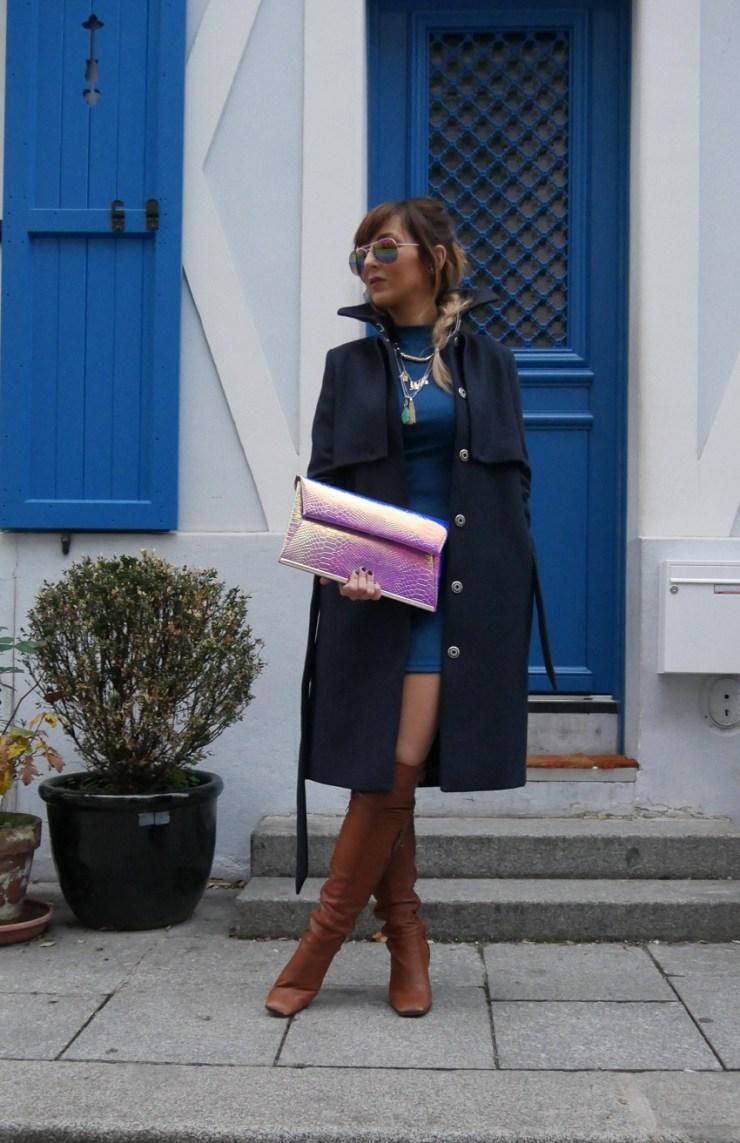 amourblogetbeaute manteau bleu Aurora Lunettes