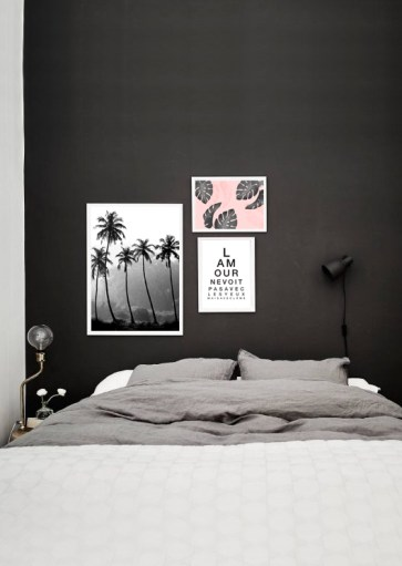 Affiche Palmiers blush – décoration tropical
