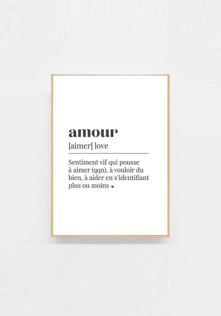 carte deco message amour