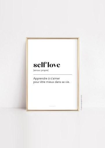 Affiche Self love à imprimer