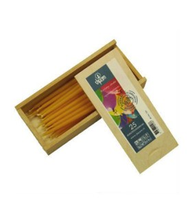 Beeswax Birthday Cake Candles Wooden Box of 25