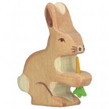 Holztiger - Hare with carrot