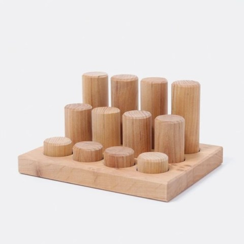 Grimms - Stacking Game Small Natural Rollers 1