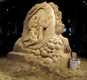 Grady Sand Sculpture: fairy sculpture, with tools