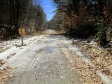 slush on trail