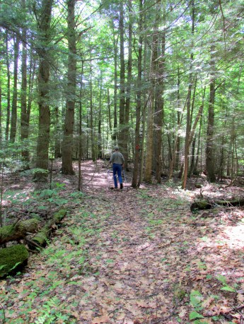 spouse ahead on trail, 6 June 2015