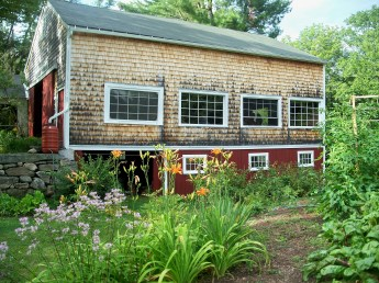 barn and garden, July 2012