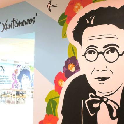 Mural adicado a Castelao | @vadesigner