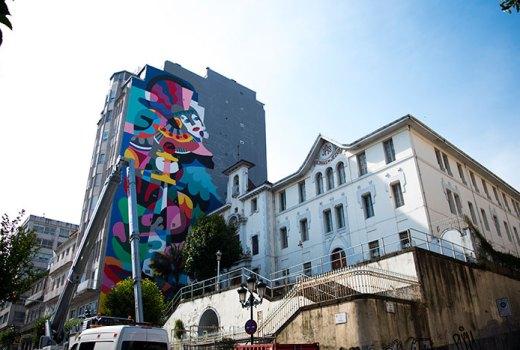 Vigo maquilla as súas medianeiras con arte internacional