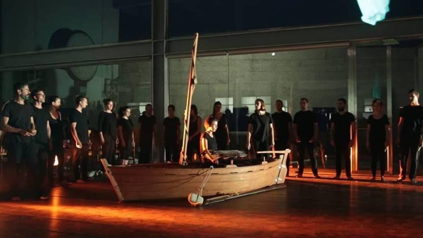 Actuación de Ensemble Galería no Museo do Mar.