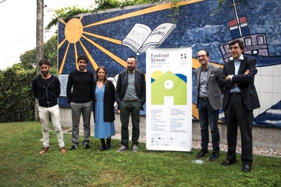 Os organizadores do Sin Sal xunto co director do Museo do Mar de Galicia, Vicente Caramés, Anxo M. Lorenzo e Ignacio López Chavez. | Pablo Vázquez