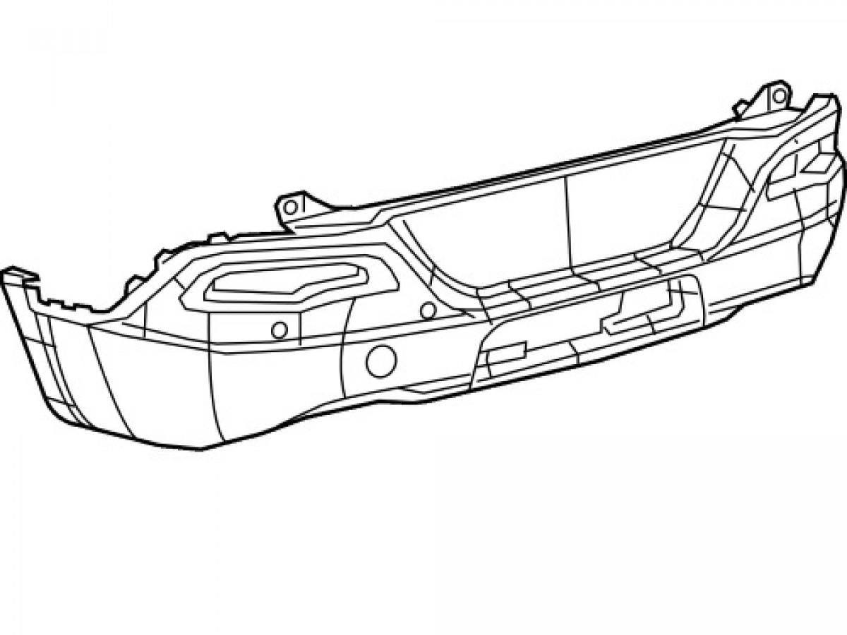 Genuine Mopar Fascia Rear (Part No: 68232317AD)