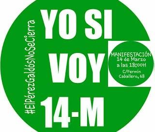 Manifestación contra el cierre del Pérez Galdós