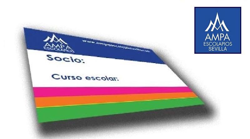 Carnet de Socio que se muestra en el menú de Hazte Socio de Ampa Escolapios Sevilla