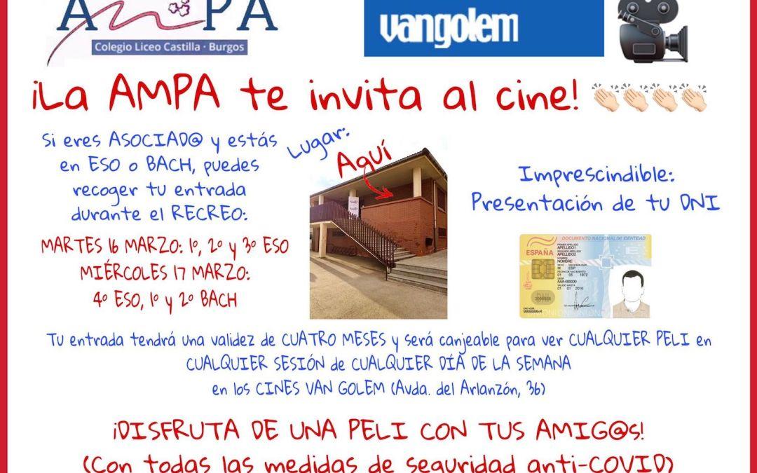La AMPA invita al cine para ESO y Bach