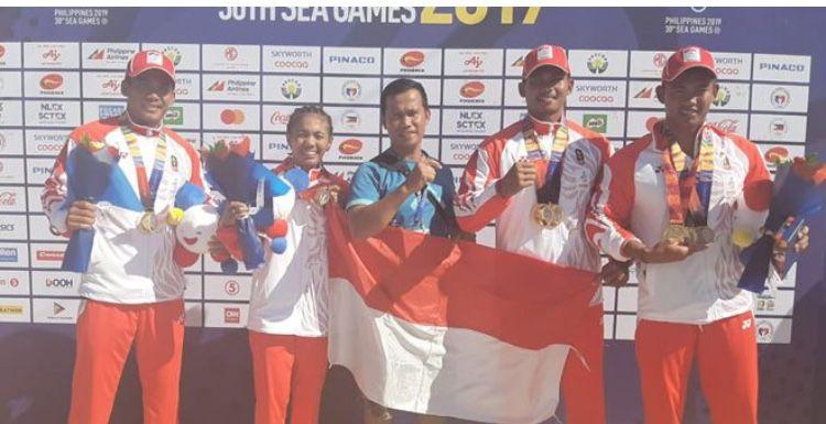Foto (Prestasi 2019): Pedayung Jambi Sumbang Medali Emas SEA Games 2019 di Filipina/ Ist.net