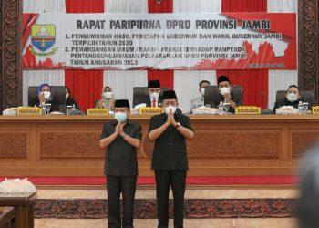 Al Haris - Abdullah Sani Gubernur dan Wakil Gubernur Jambi/Foto: Ady Putra