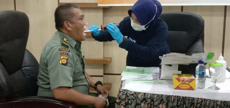 Anggota Polhut Jambi di Tes Kesehatan dan Psikolagi, Foto: Ucok