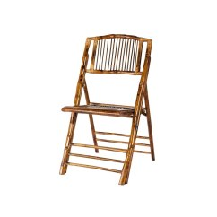 Bamboo Folding Chair Gray Side Am Party Rentals