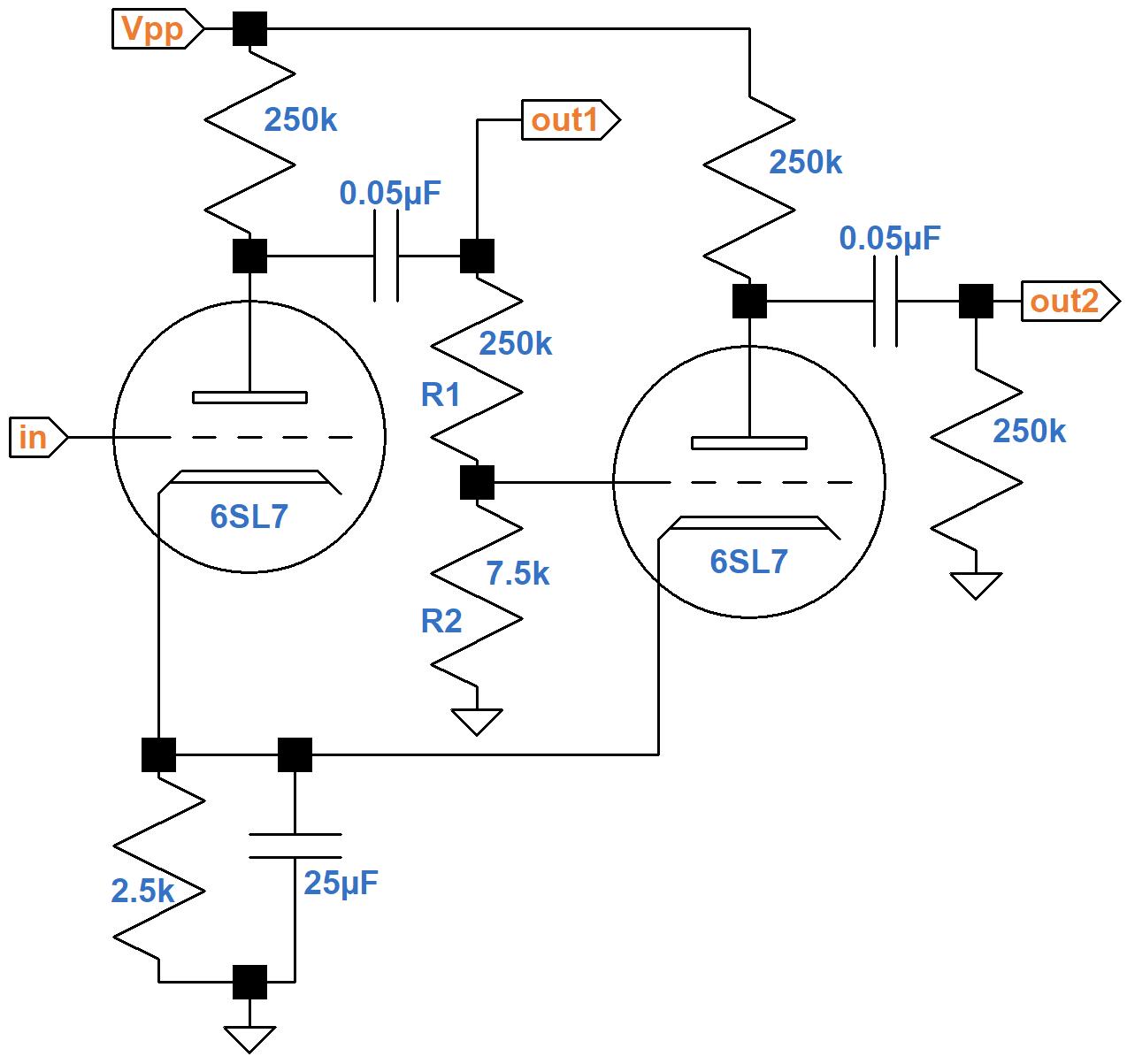 Ampeg Plate Follower Phase Inverter