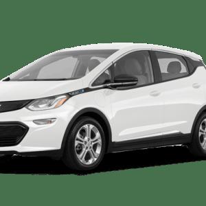 Chevrolet Bolt blanche devant 45