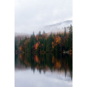 Paysage d'automne à Tremblant au Canada