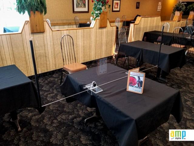 Protection hygiénique pour table de restaurants