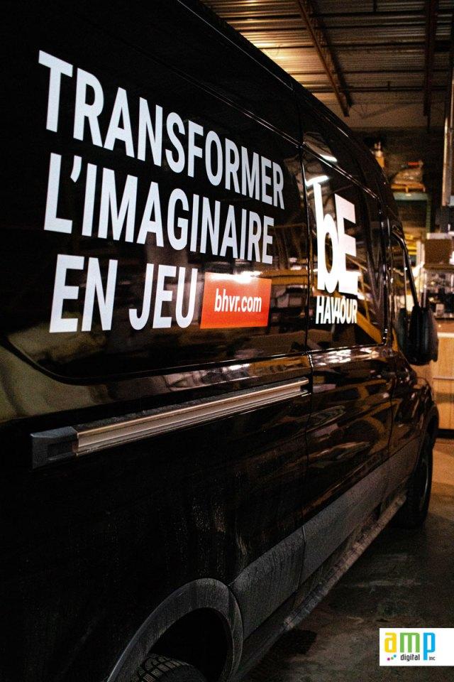 Lettrage Ford Transit à Montréal