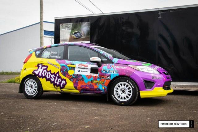 Lettrage de voiture de course Ford Fiesta Rallye