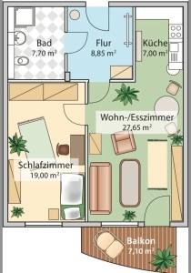 Grundriss 2-Zimmer-Wohnung