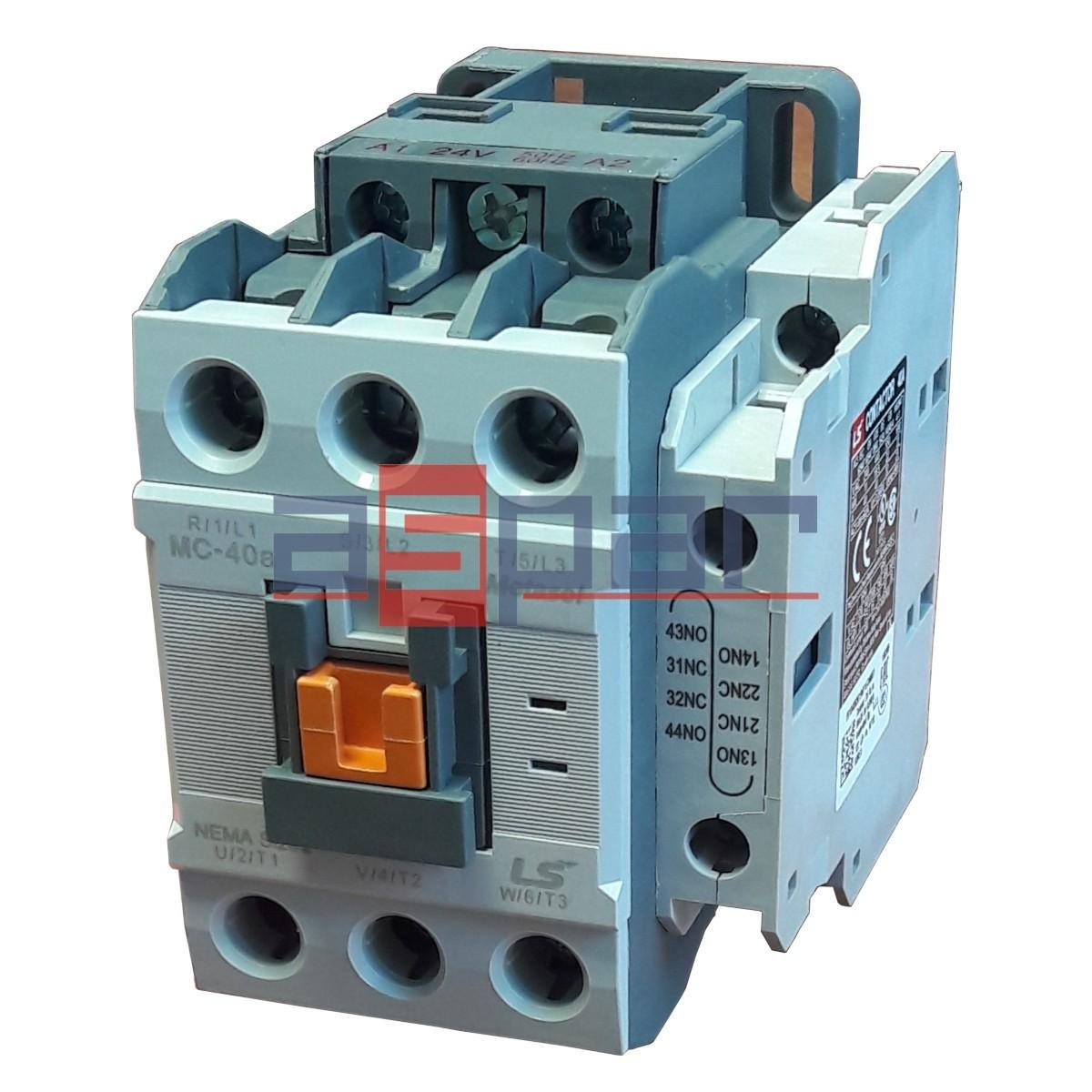 Stycznik. METASOL. Contactor. LSIS.LG. LS.MC-40A 1a1b 230VAC. MC40a. MC-40A 230VAC. MC-40A