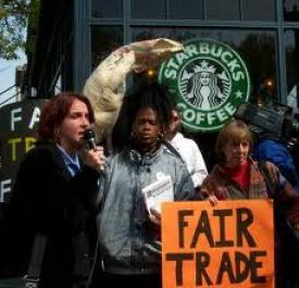 Fair Trade Protest at Starbucks