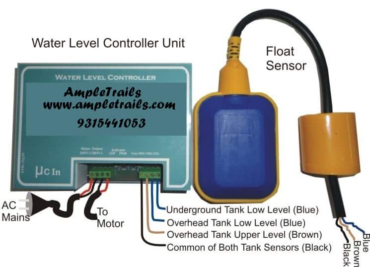 single phase borewell starter wiring diagram 0v automatic water level controller motor submersible