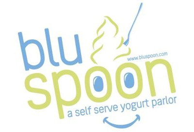 Blu Spoon Frozen Yogurt FroYo, Branding, Logo Design, Ice Cream
