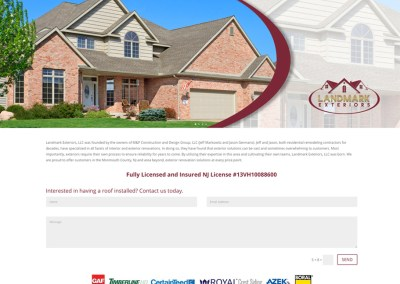 Landmark Exteriors NJ Website