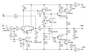 100 W HI FI Power Amplifier