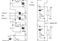 1.4W Stereo Power Amplifier Circuit based TDA8552