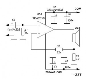 tda2050 amplifier with current environmental protection amplifier rh amplifiercircuit net tda2050 bridge amplifier circuit diagram