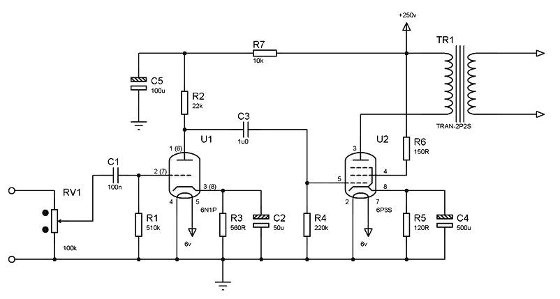 simple high quality tube amplifier class a amplifier circuit design rh amplifiercircuit net Amplifier and Stereo Diagrams Boats Telephone Amplifier Circuit