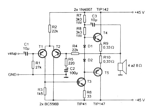 2 Stage Differential Amplifier Circuit Diagram Diode