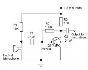 amplifier circuit design page 27 of 30 amplifier project schemesimple microphone pre amp