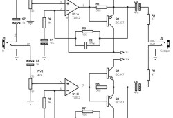 Low Power Amplifier 2×100 mW with TL082