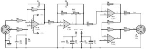 Balanced input, output pre amplifier