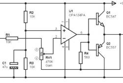 Headphone amplifier based OPA134PA
